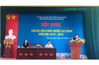 Hội nghị cán bộ, viên chức và người lao động Trường Đại học Hải Dương  Năm học 2018 - 2019